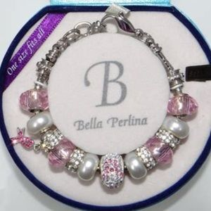 NWOT Bella Perlina Breast Cancer Bracelet